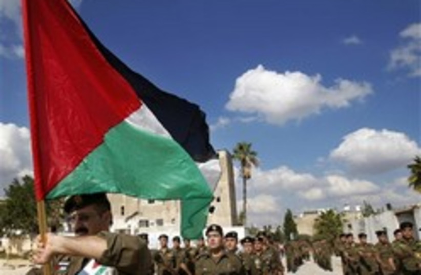 palestinian flag march 248.88 AP (photo credit: )