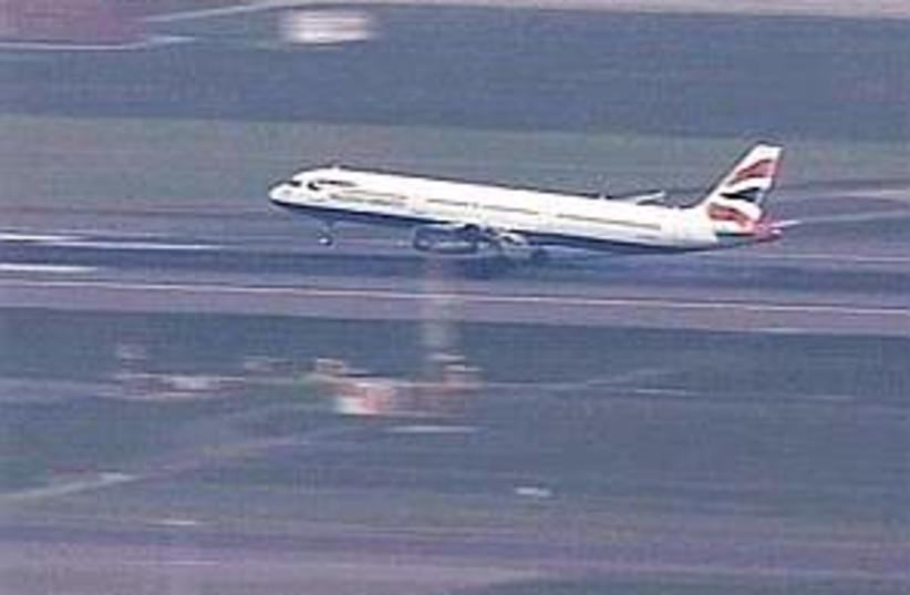 british airways plane (photo credit: AP)