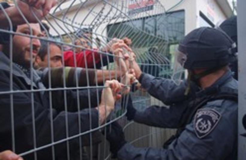 Dolev police settler moratorium freeze (photo credit: Abe Selig)
