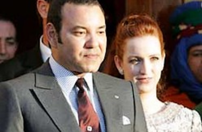 """Morocco's """"First Servant,"""" King Mohammed VI and Pr (photo credit: AP)"""
