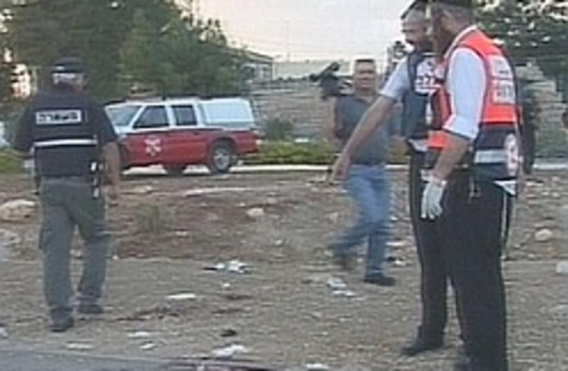 Gush Etzion junction attack 248.88 (photo credit: Channel 2)
