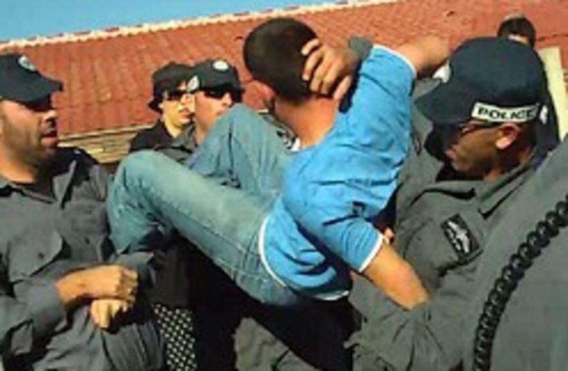 kedumim settler protest police 248 88 (photo credit: Council of Samaria Settlers)
