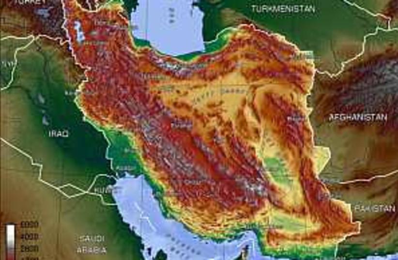 iran satellite map 298.8 (photo credit: Courtesy)