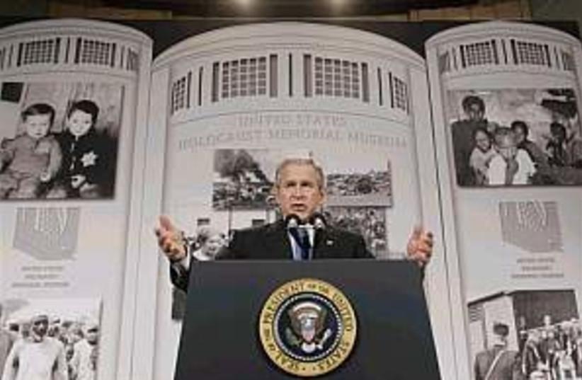 bush holocaust 298.88 (photo credit: AP)