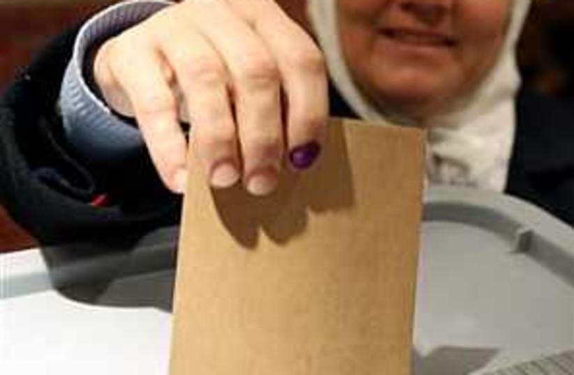 syria votes 298.88 (photo credit: AP)