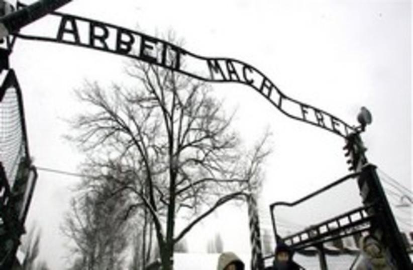 Auschwitz sign 248 88 AP (photo credit: )