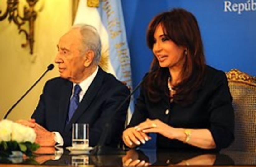 peres kirchner argentina 248  (photo credit: GPO)