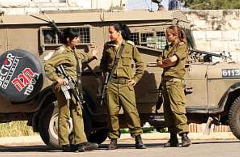 female soldiers 298.88 (photo credit: Ariel Jerozolimski)
