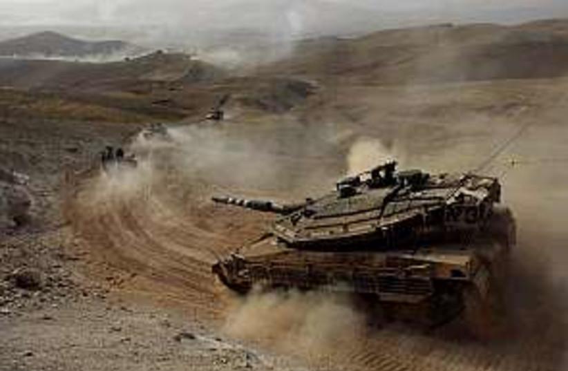 tanks up north in drill  (photo credit: IDF)