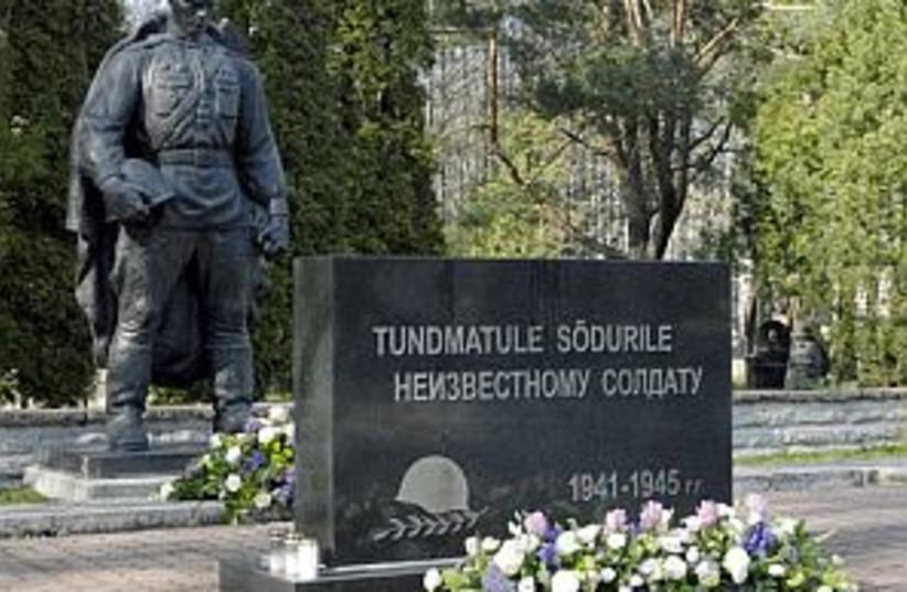 estonia WWII memorial (photo credit: AP)