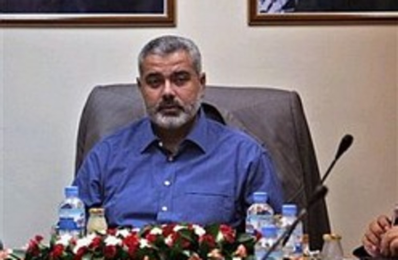 Palestinian Prime Minister Ismail Haniyeh (photo credit: AP)