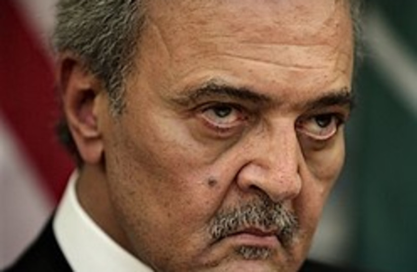 Saudi Arabian Foreign Minister Prince Saud al-Fais (photo credit: AP)