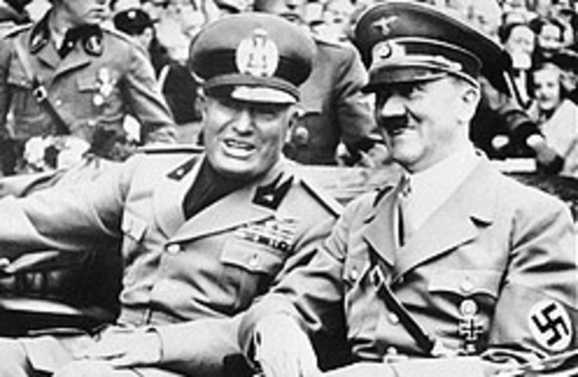 Hitler Mussolini 248.88 (photo credit: )