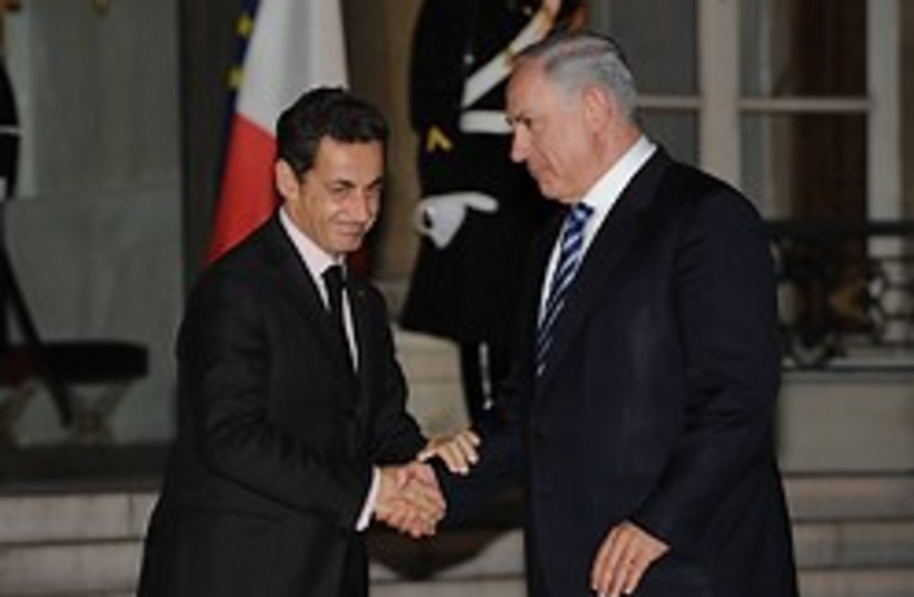 sarkozy and netanyahu in france (photo credit: Amos Ben Gershom / GPO)