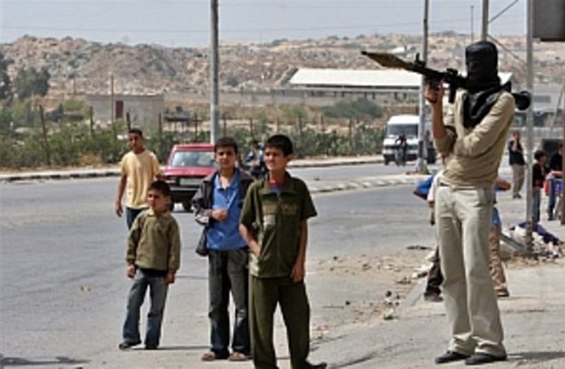 Palestinian chidren (photo credit: AP)
