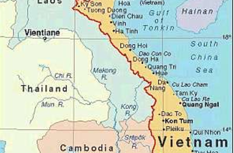 vietnam map 298.88 (photo credit: )