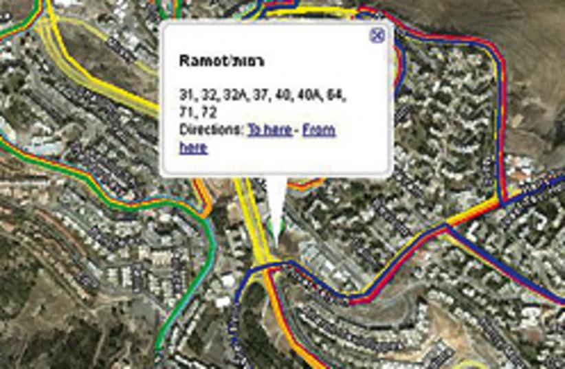 jlem bus google maps 248.88 (photo credit: )