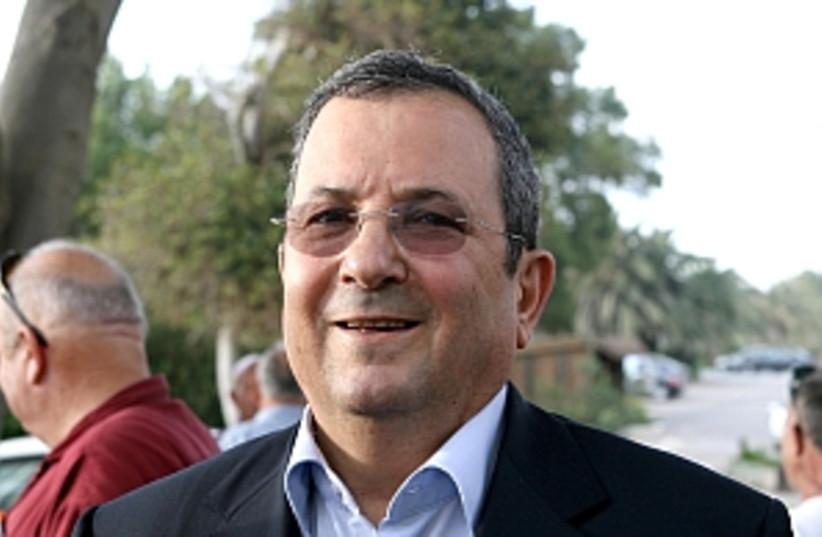Barak smiles 298.88 (photo credit: Ariel Jerozolimski)