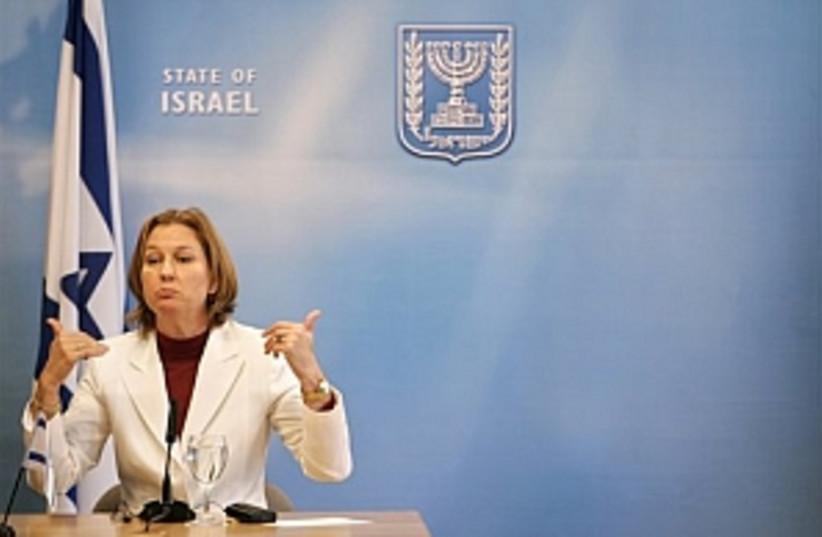 Livni gestures 298.88 (photo credit: AP)