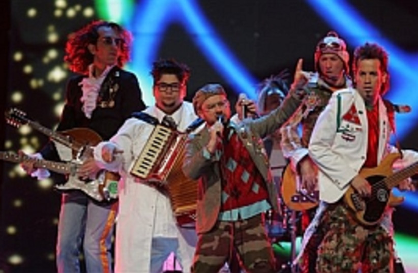 teapacks eurovision 298. (photo credit: AP)