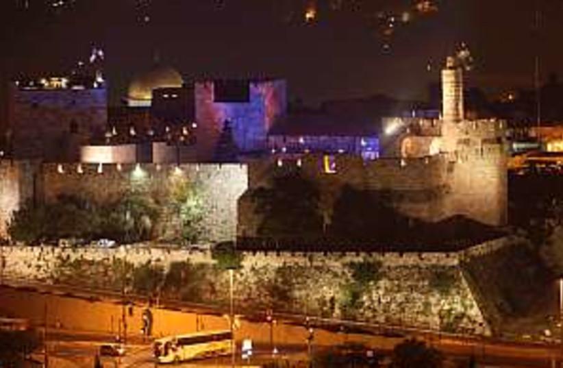 old city lit up 29888 (photo credit: Ariel Jerozolimski)