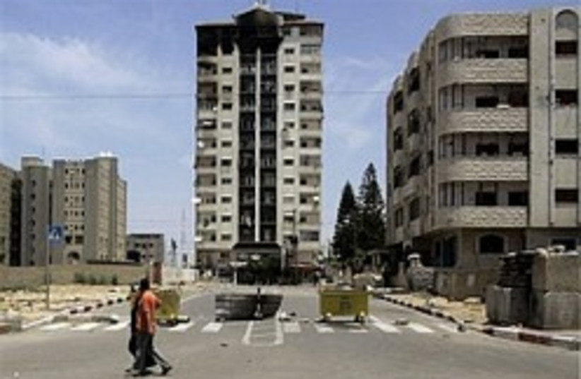 Gaza Bombed building 298 (photo credit: AP)