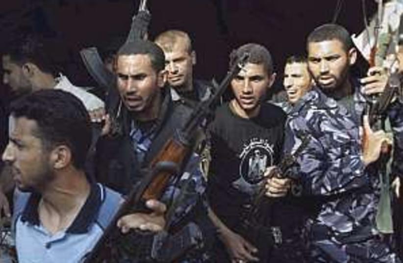 pissed off Hamas (photo credit: AP)