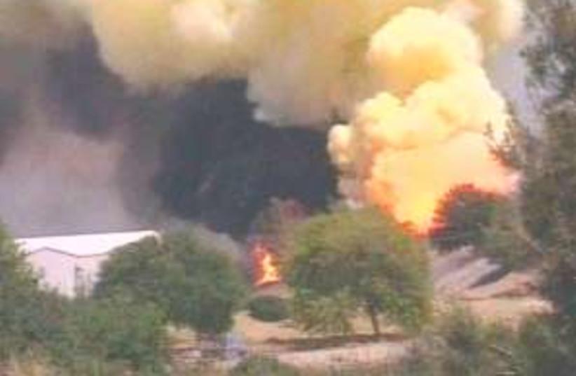 Fire nazareth 298.88 (photo credit: Channel 10)