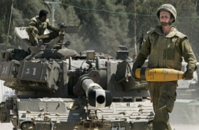 IDFtank shellGaza 298.88 (photo credit: AP)