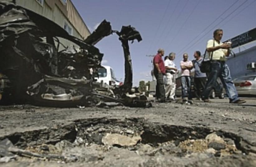 kassam damage 298.88 (photo credit: AP)