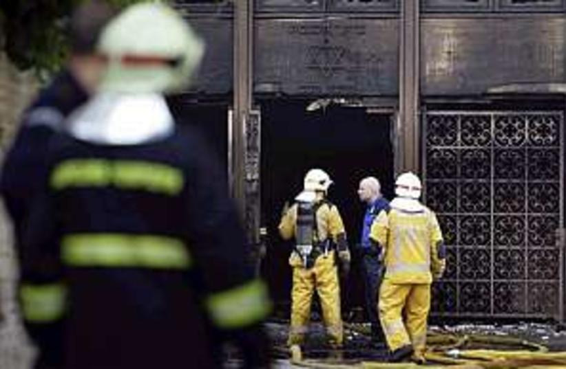 geneva synagogue fire (photo credit: AP)
