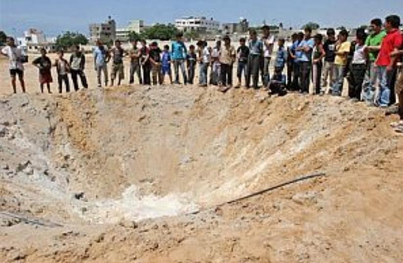 IAF Gaza crater 298 88 (photo credit: AP)