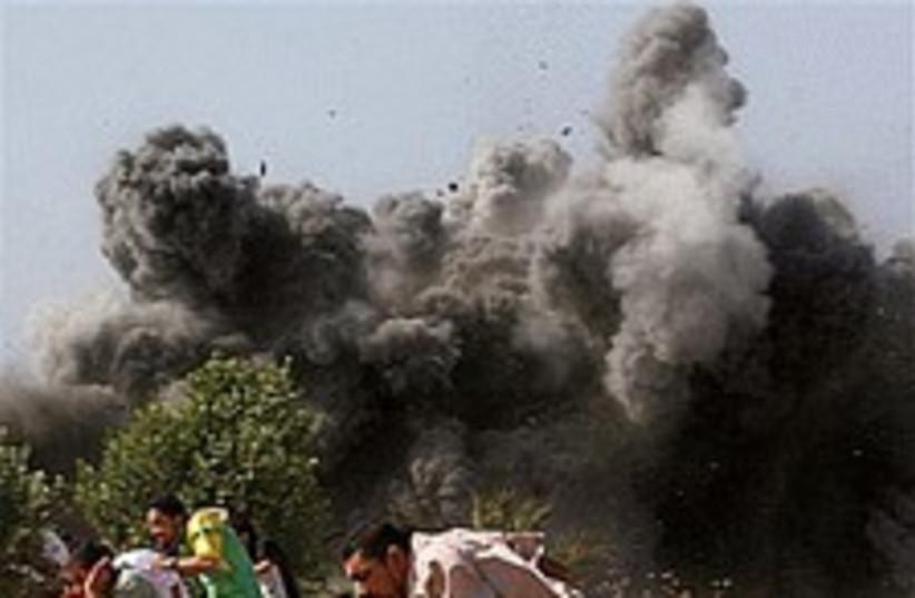 IAF strike in Gaza nice  (photo credit: AP [file])