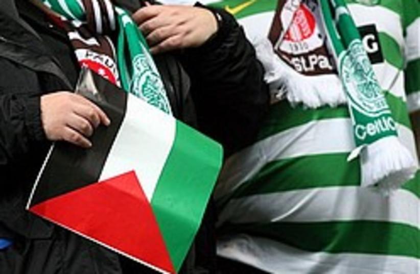 celtic fans palestinian flags 248 88 ap (photo credit: AP)