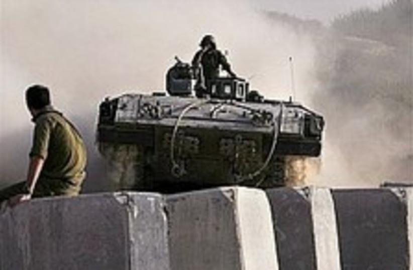 tank n. gaza 224.88 (photo credit: AP)