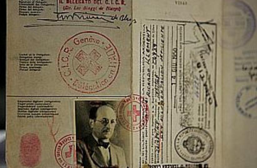 eichmann passport 298.88 (photo credit: AP)