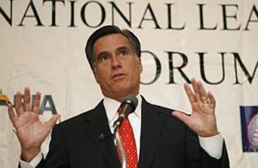 romney speaks 298.88 ap (photo credit: AP)