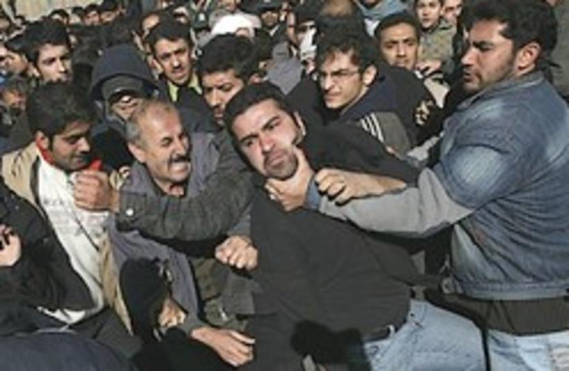 Iran protest scuffle 248.88 (photo credit: )