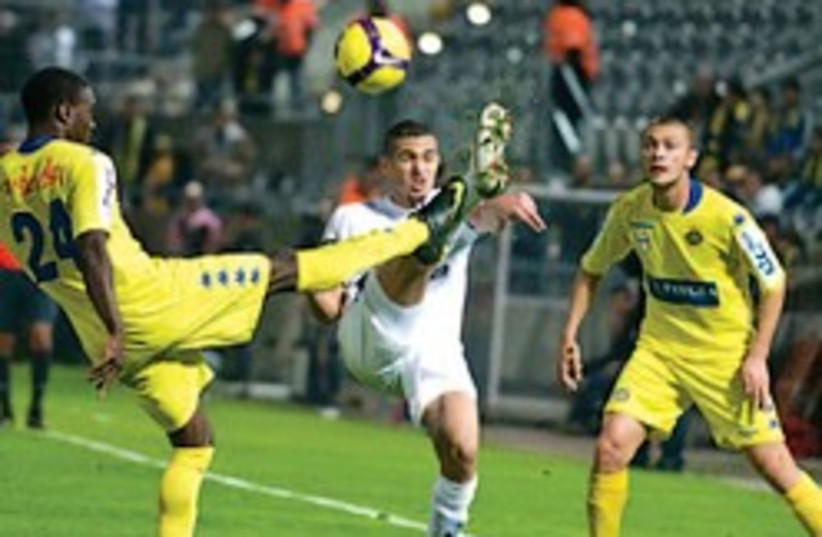 mayuka maccabi tel aviv soccer (photo credit: Asaf Kliger)