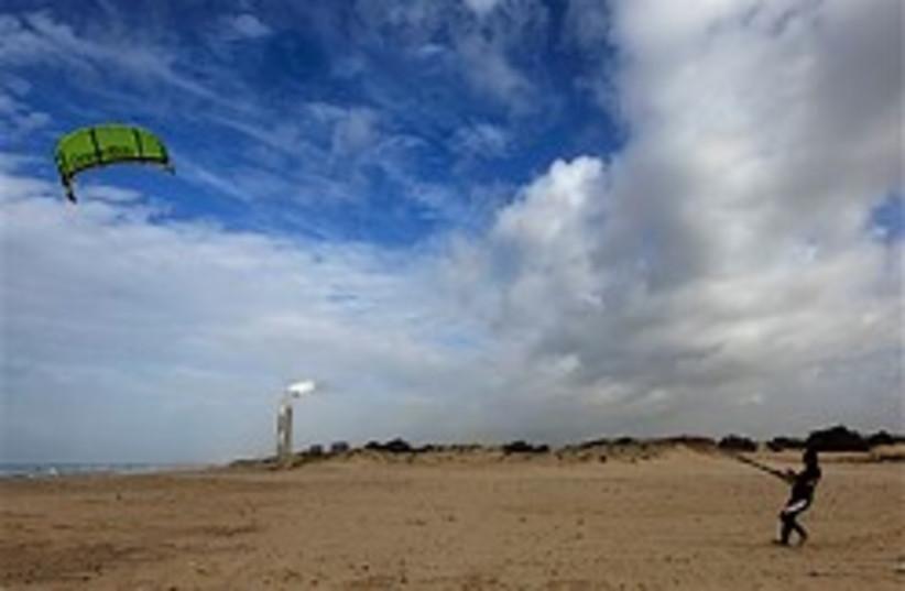 beach kite-surfer 248.88 ap (photo credit: AP)