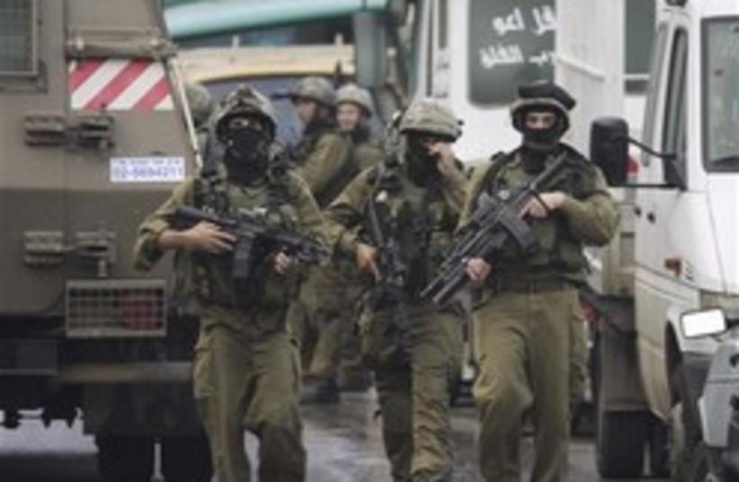 IDF soldiers in Nablus 248 88 (photo credit: )