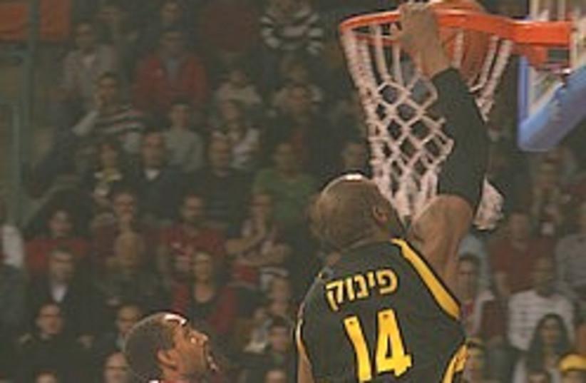 basketball Maccabi Netanya Pinnock (photo credit: Roi Levy)