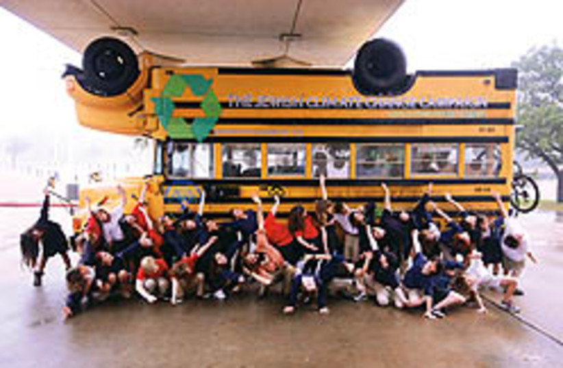 Climate Change bus  248.88 (photo credit: )