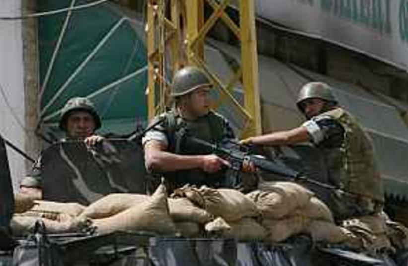 Lebanese soldiers 298.88 (photo credit: AP)