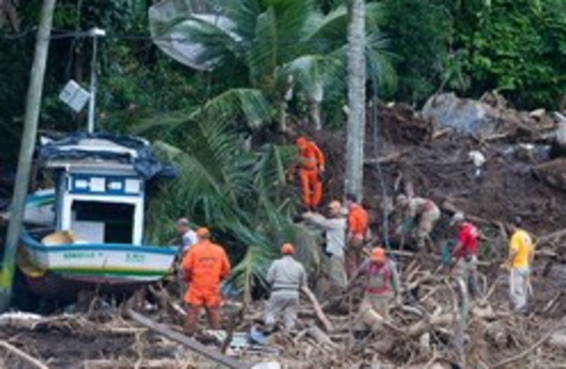 Brazilian mudslides 248x88 AP (photo credit: )
