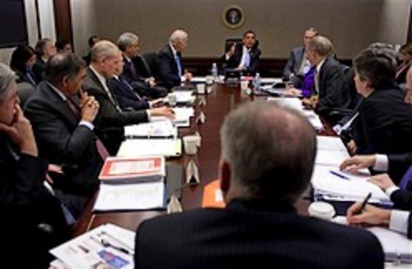 obama cabinet meeting 248.88 (photo credit: AP)