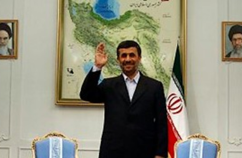 Ahmadinejad the patriot 298 (photo credit: AP)