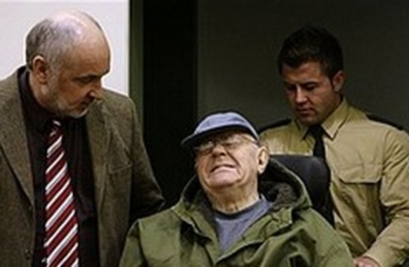 Accused Nazi death camp guard John Demjanjuk. (photo credit: AP)
