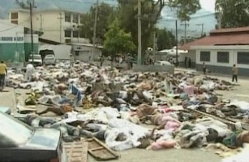 Haiti dead (photo credit: AP)