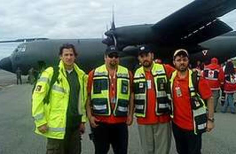 ZAKA rescue workers fly to Haiti earthquake disaster area (photo credit: ZAKA)